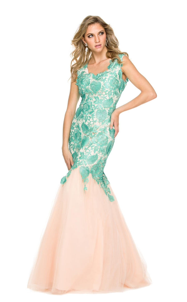 Nox Anabel 3121 Dress Mint-Nude