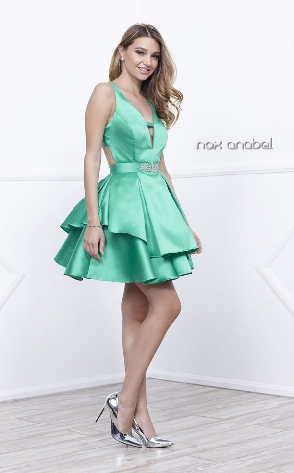 Nox Anabel 6283 Dress Emerald-Green