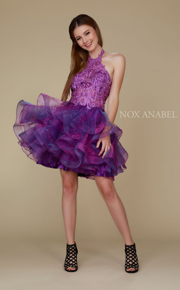 Nox Anabel A610 Dress Magenta