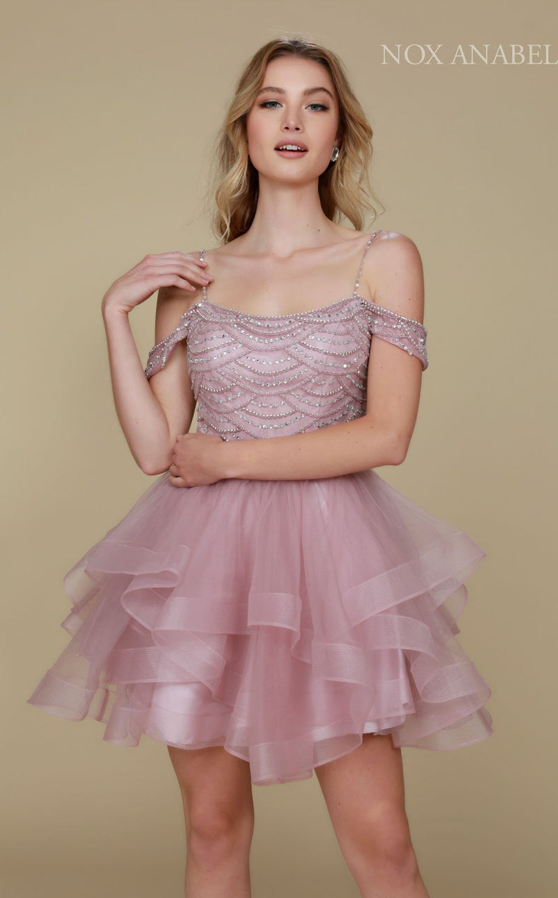 Nox Anabel T668 Dress Light-Mauve