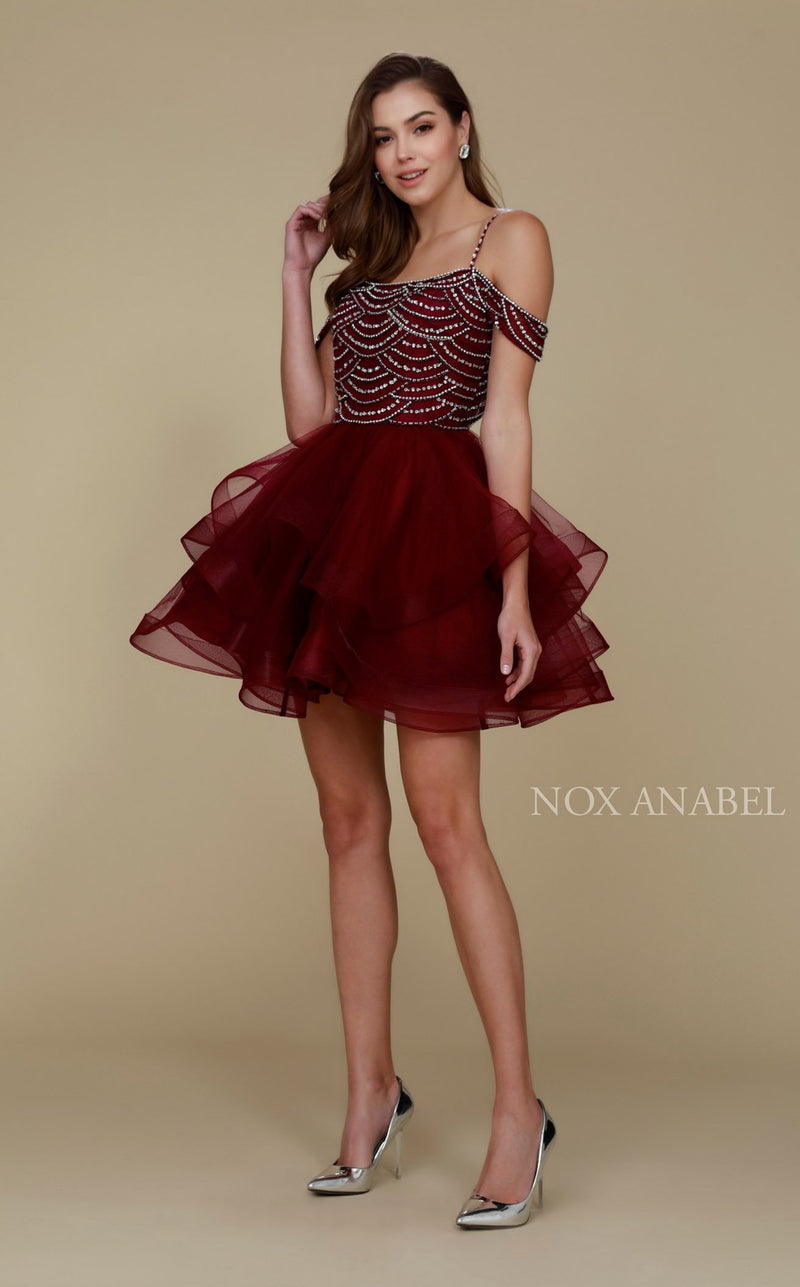 Nox Anabel T668 Dress Wine