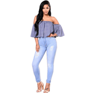 1642466a7548a 2018 Hot Sale White jeans women street vintage distressed ripped push up  plus size ladies skinny slim pencil denim pants jeans