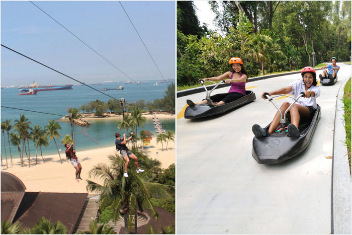 💕Combo: Mega Adventure Park + Luge and Skyride Sentosa