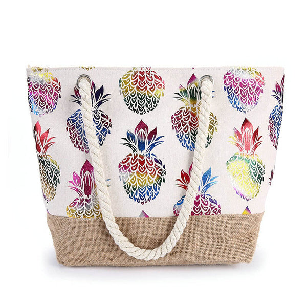 Grand sac de plage Ananas - Multi / 30 cm < Max longueur 50) ananas, Sac