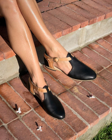 Bella Shoe in Black and Hazelnut - Yours & Mine Online Store South Africa