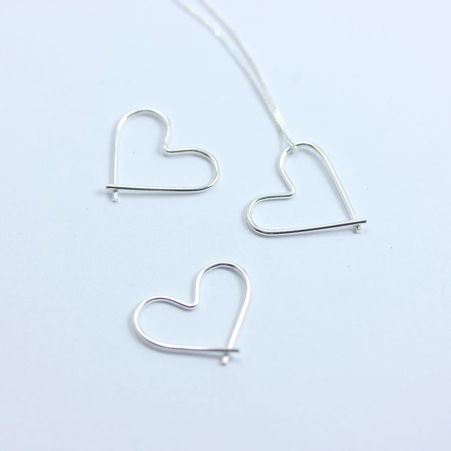 Sterling Silver Paperclip Heart Pendant - Yours & Mine Online Store South Africa