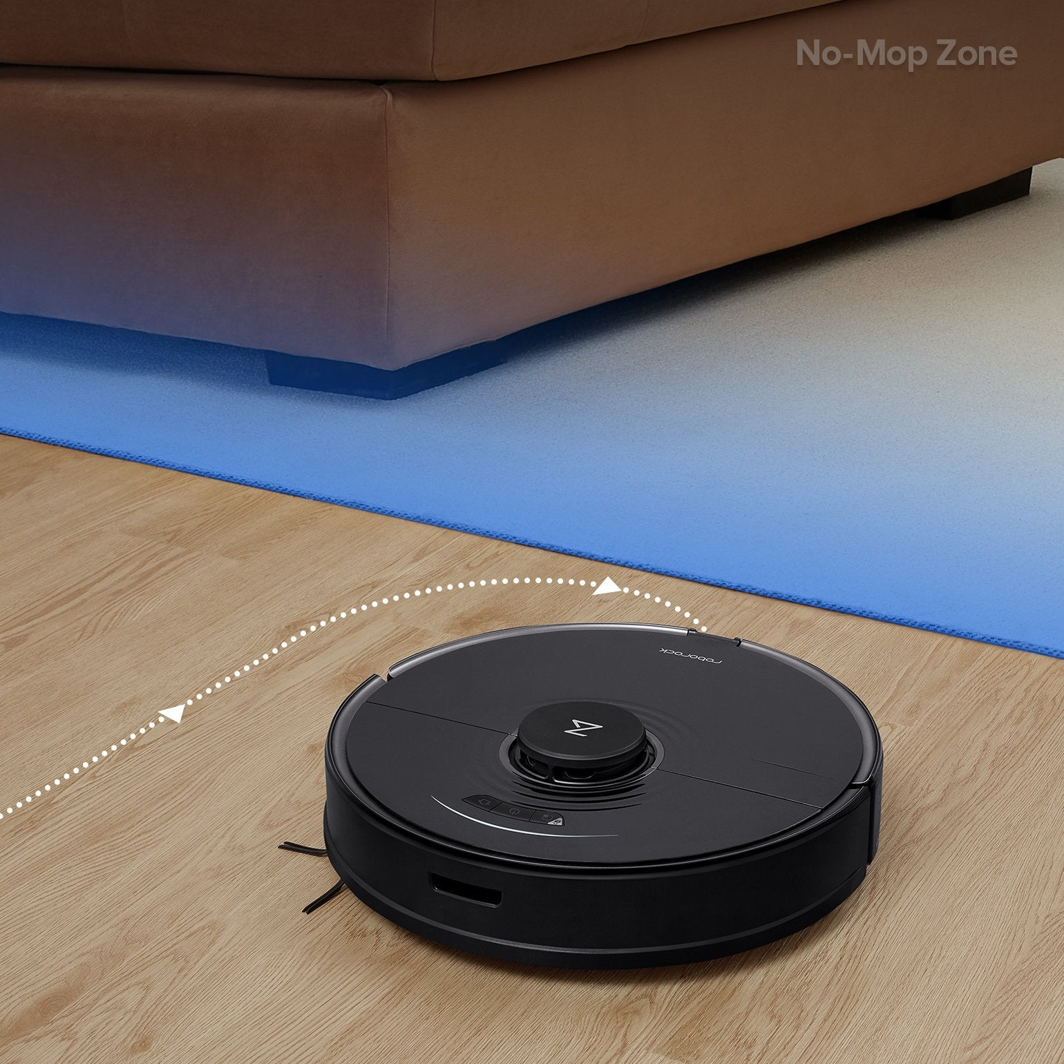 draw a no-mop zone right on the carpet to keep Roborock S7 away