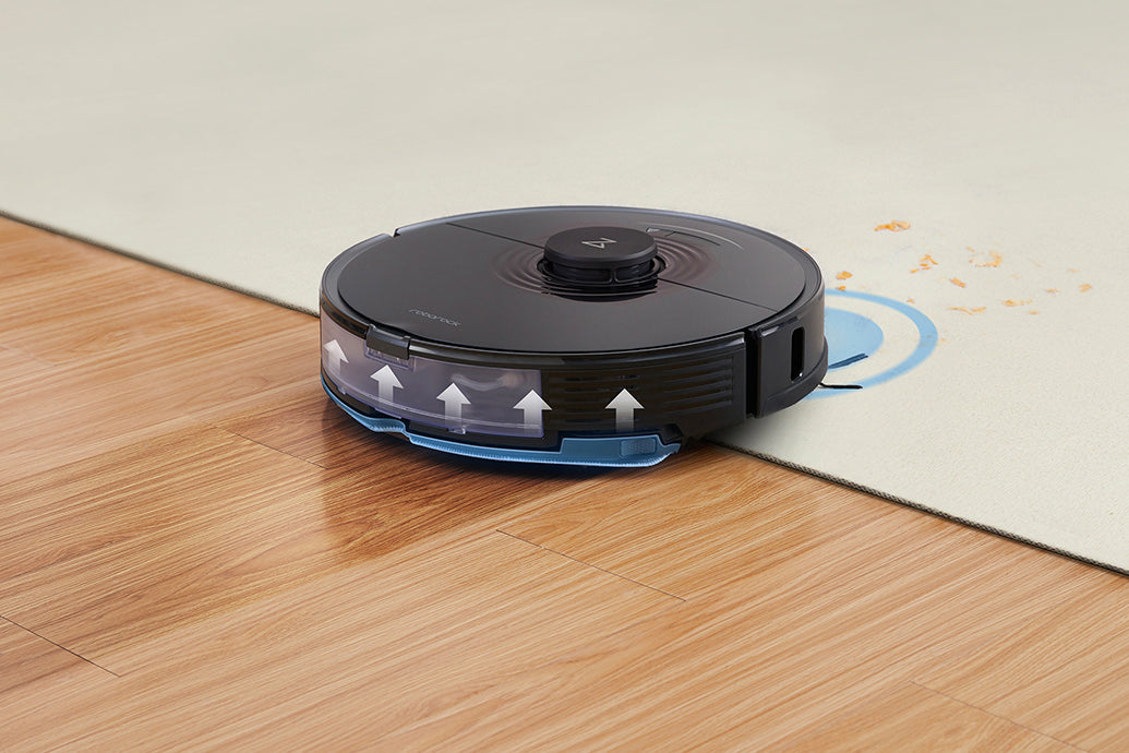 Automatic mop lifting makes robot mopping more convenient.