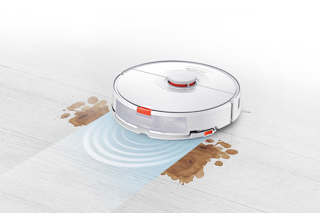 Sonic mopping eliminates dried on stains that some robots may miss.