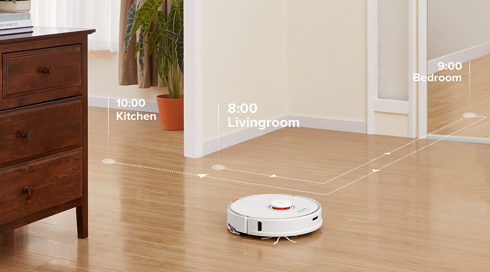 Set advanced scheduling to automate room cleaning