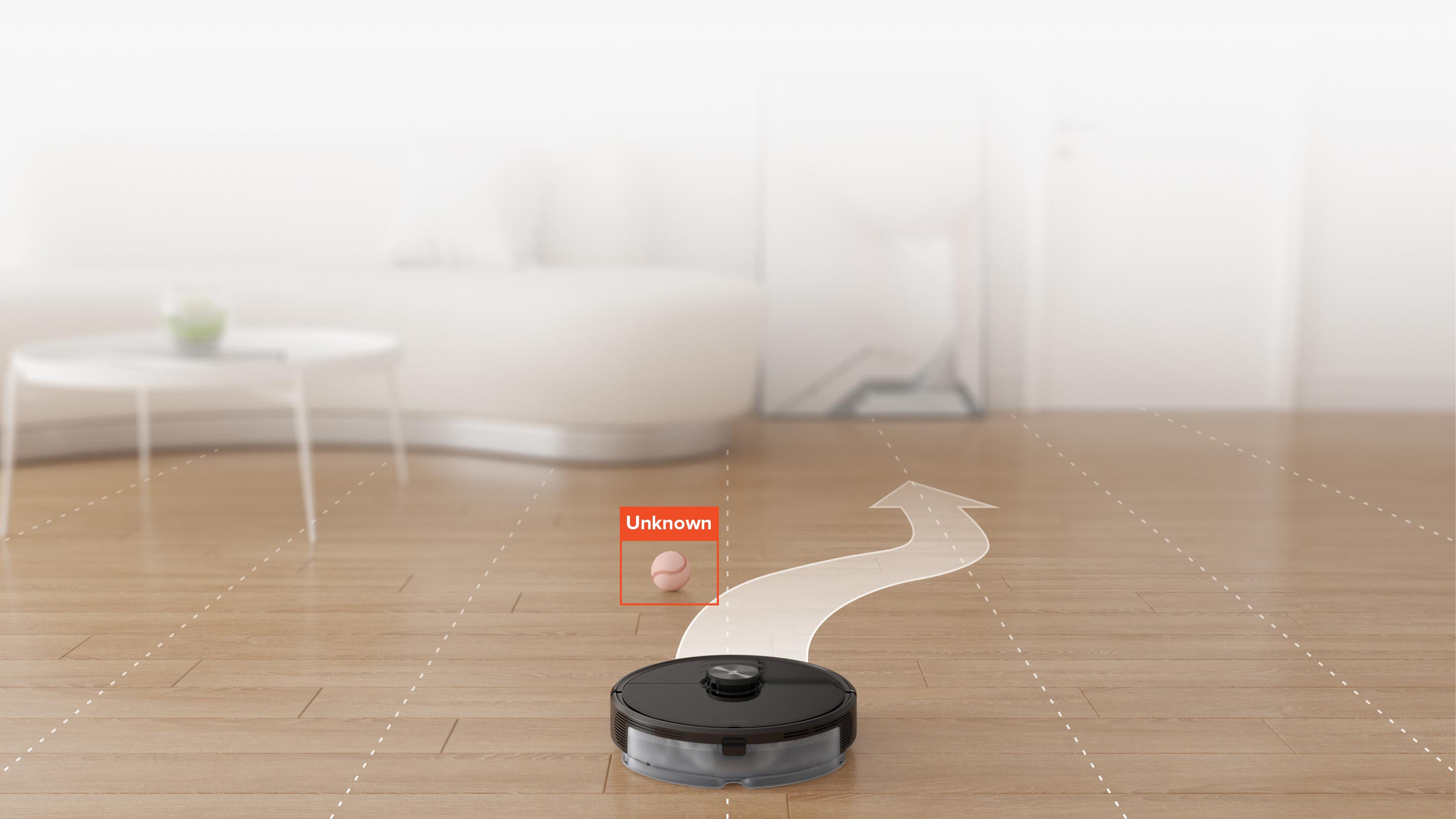Roborock S6 MaxV can recognize and avoid unknown object small as 5cm wide and 3cm tall