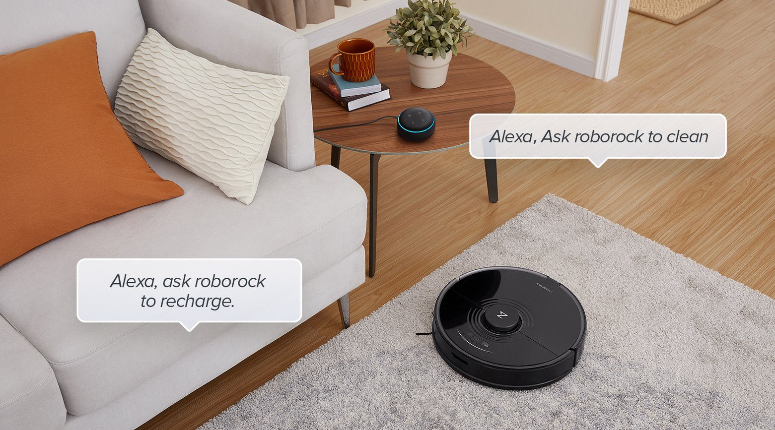 Voice command Roborock S7 via Amazon Alexa, Google Home, and Siri shortcuts