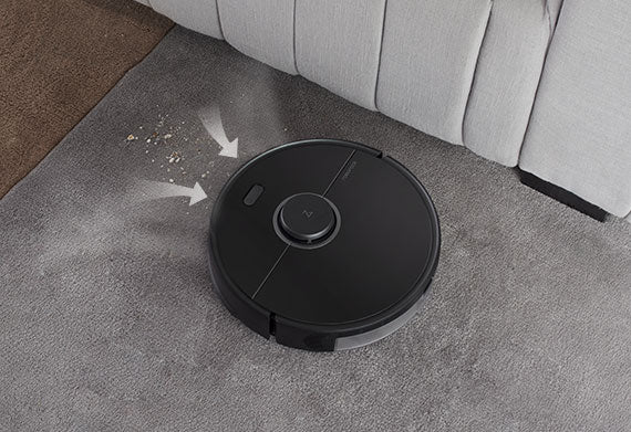 Roborock S5 Max's powerful suction can draw up dirt from deep in carpets