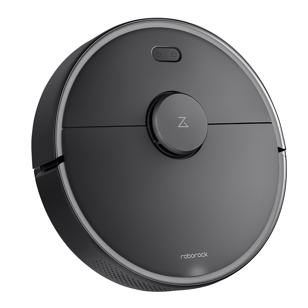 Roborock S4 Max robot vacuum cleaner left-side view