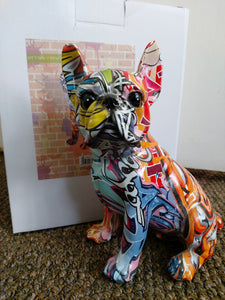 Graffiti Sitting French Bull Dog