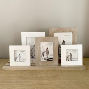 Rustic 5 Frames on a Tray