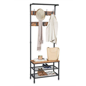 Coat Rack Stand with Bench