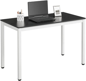 Load image into Gallery viewer, White & Black Office Desk