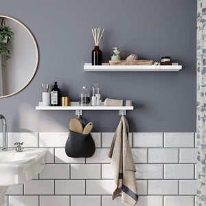 White Floating Shelves (Twin Pk)