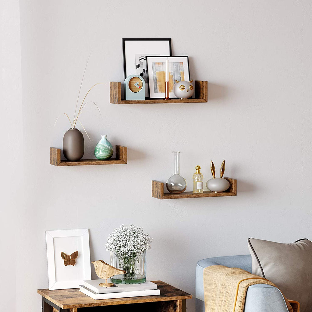 Rustic Floating Shelves ( 3Pk)