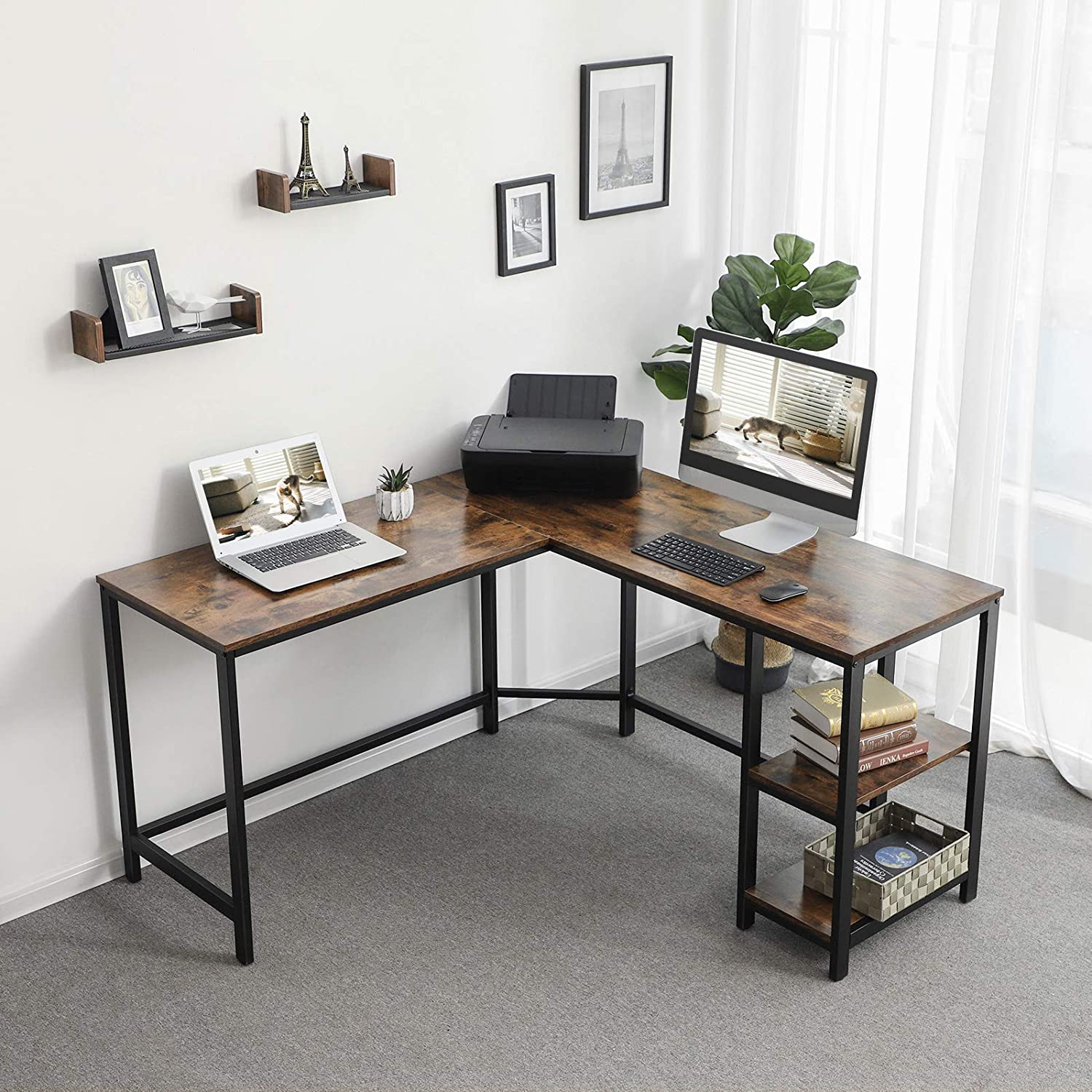 Corner Desk w/ Shelves