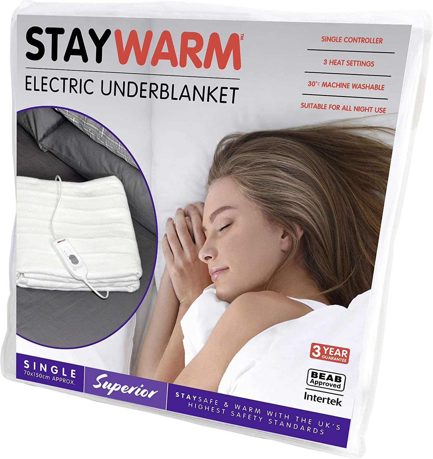 Heated Single Underblanket