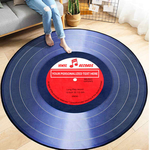 Image of Personalized Retro Record Rug