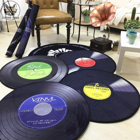 Personalized Retro Record Rug