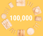 100,000 plastic plates replaced in 2019 by The Good Plate Company!