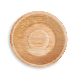 "7"" Round Palm Leaf Bowl - 25 Pack - The Good Plate Company"