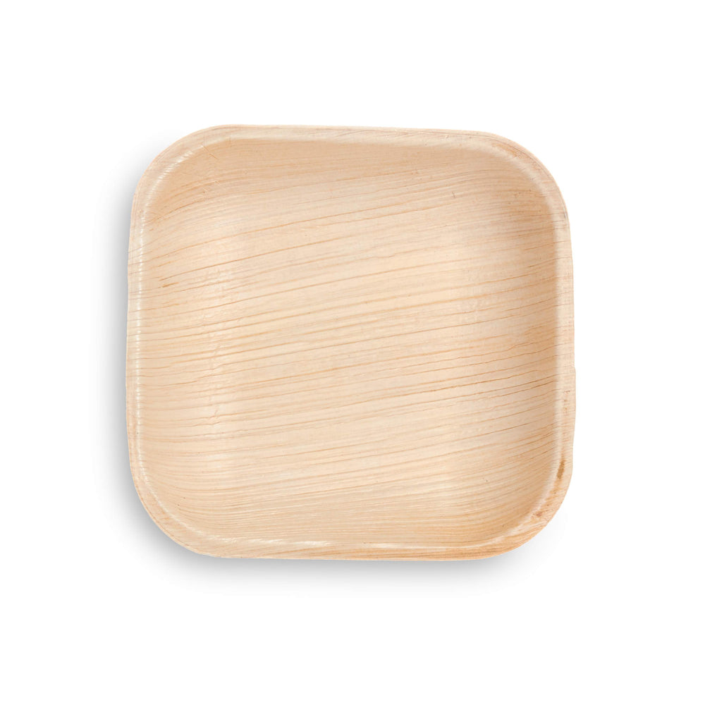"5"" Square Palm Leaf Plate - 25 Pack"