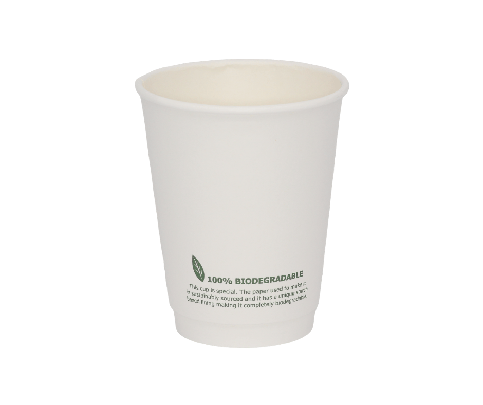 12oz Biodegradable Paper Cup - The Good Plate Company