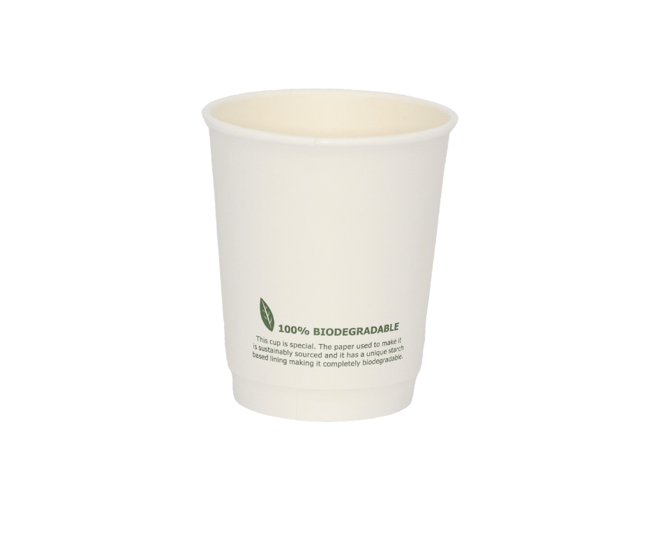 8oz Biodegradable Paper Cup (Double Wall) - 25 Pack