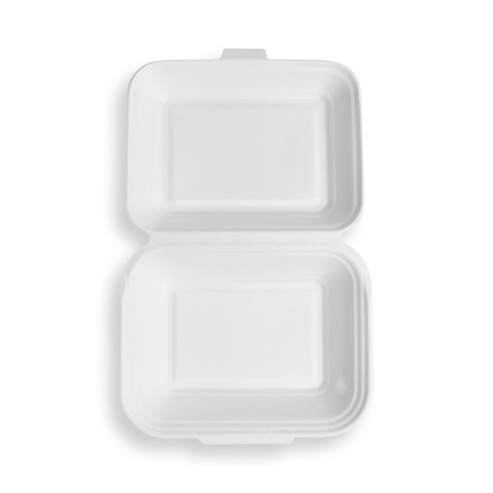 900ML Bagasse Takeaway Box - 125 Pack