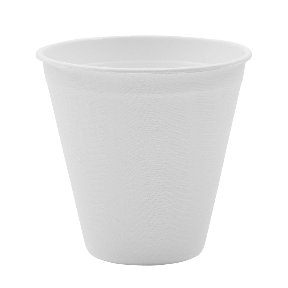8oz Sugarcane Bagasse Cup - 50 Pack - The Good Plate Company