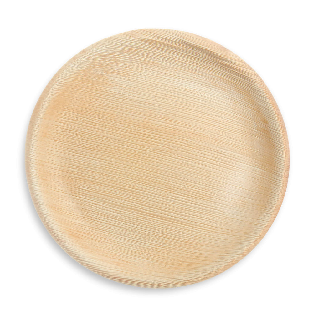"6.5"" Round Palm Leaf Plate - 25 Pack - The Good Plate Company"