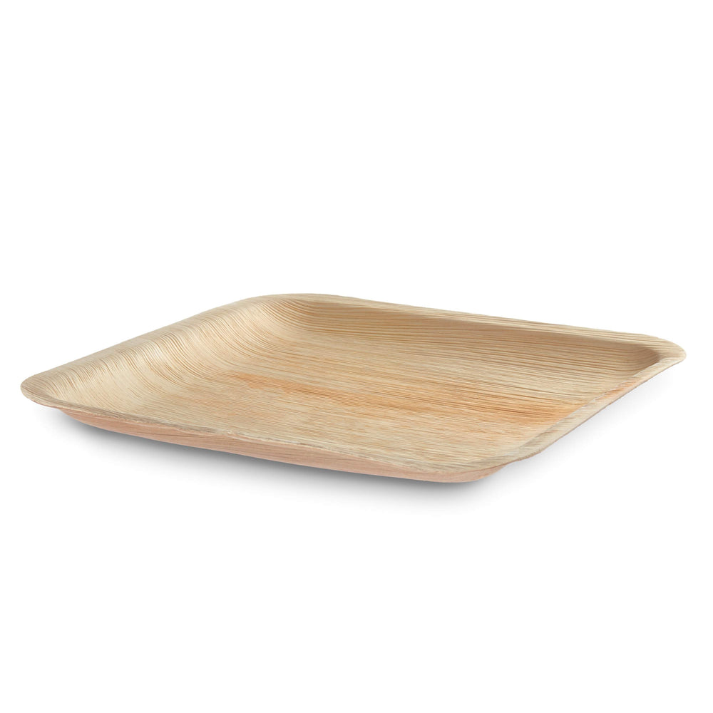 "10"" Square Palm Leaf Plate - 25 pack - The Good Plate Company"