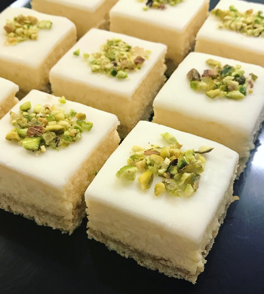 Gluten Free - Lemon and Pistachio Slice - 6 Pack - Kiss Kiss Artisan Foods
