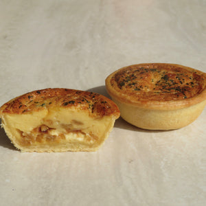 Caramelised Onion & Goats Cheese Quiche - 12 pack - Kiss Kiss Artisan Foods