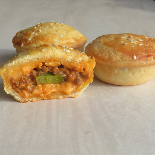 Double Cheeseburger Pie Party (70G) Lunch Pie (220G) - Kiss Kiss Artisan Foods