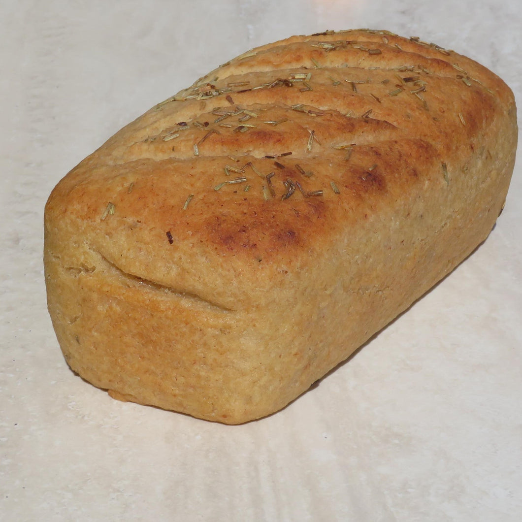 Gluten Free & Vegan Loaf of Bread Plain or Rosemary (unsliced) - Kiss Kiss Artisan Foods