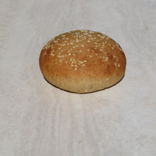 Load image into Gallery viewer, Gluten Free & Vegan Round Slider Buns - 6 Pack Plain or Sesame - Kiss Kiss Artisan Foods