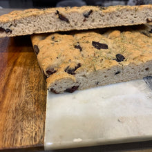 Load image into Gallery viewer, Gluten Free & Vegan Kalamata Olive and Rosemary Foccacia Bread - Kiss Kiss Artisan Foods