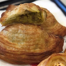 Load image into Gallery viewer, Pizelli (Mushy Peas) Pastizzi - 12 pack of (80g Jumbo) or (30g Canape) Available - Kiss Kiss Artisan Foods