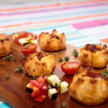 Load image into Gallery viewer, Ratatouille Canape Pie - Vegetarian 12 pack - Kiss Kiss Artisan Foods