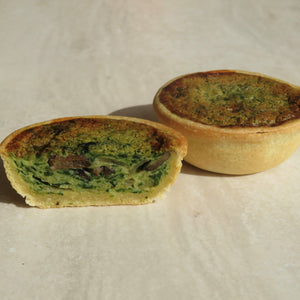 Mushroom & Spinach Quiche Party - 12 pack - Kiss Kiss Artisan Foods