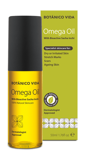 stretch marks;  Botanico Vida Omega Oil helps soothe red, irritated and dry skin.