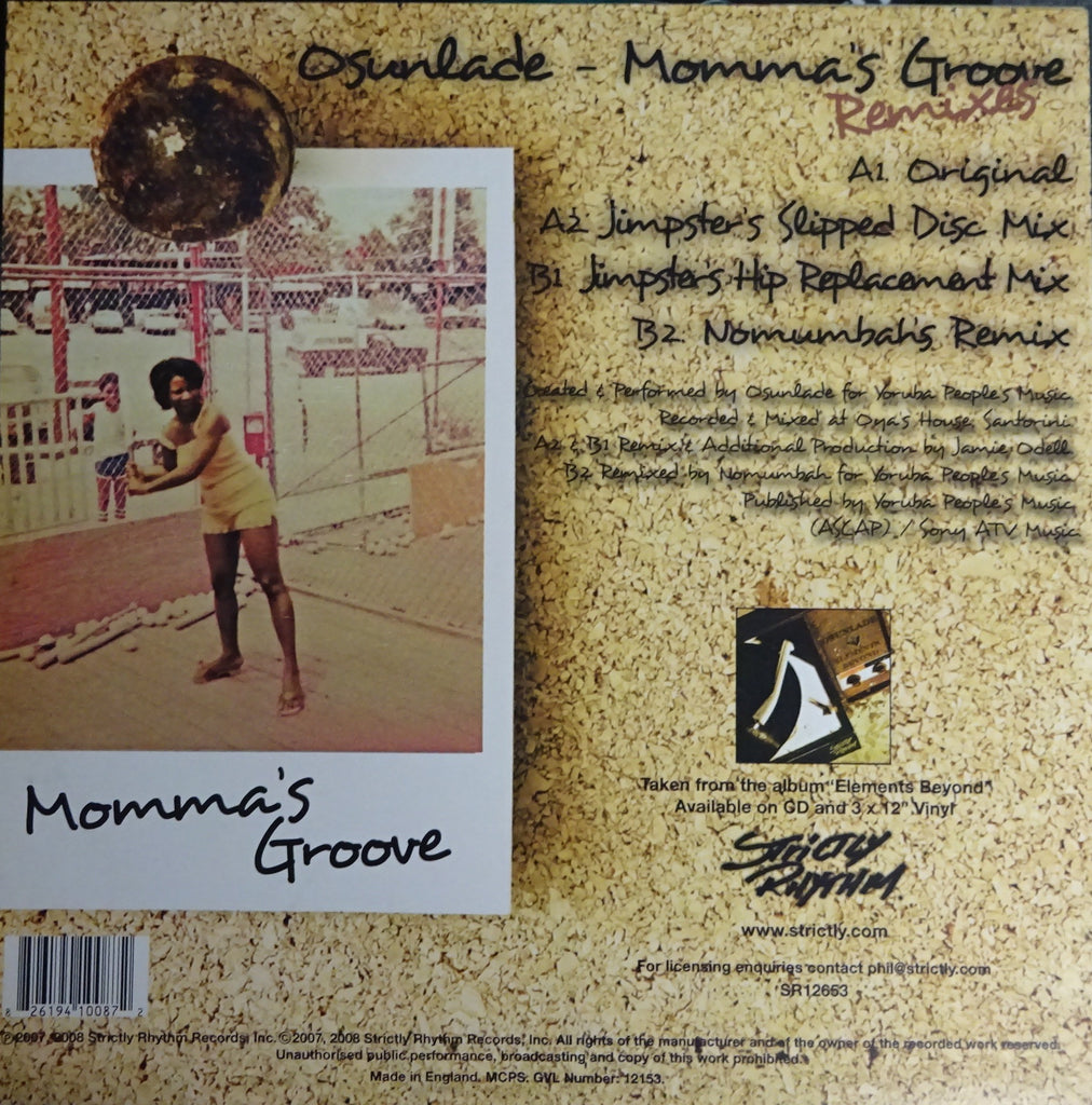 Osunlade ‎– Momma's Groove (The Remixes)