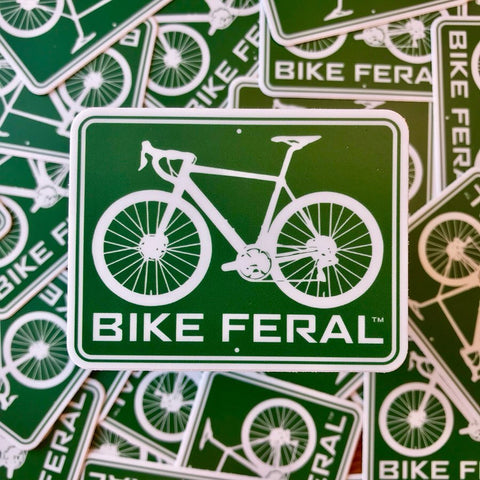 """Bike Feral"" Sticker"