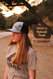 "Feral ""Oasis"" Snap-Back Trucker Hat - Heather Gray/Black"